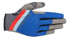 Rękawice rowerowe ALPINESTARS ASPEN PRO kolor antracyt/czerwony/niebieski