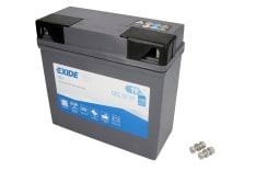 Akumulator Rozruchowy/Żelowy EXIDE 12V 19Ah 170A P+ 185x80x170 Uruchomiony GEL12-19 BMW K, R 850-1300 1990-