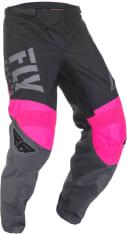 Spodnie cross/enduro FLY RACING F-16 kolor czarny/różowy/szary