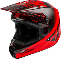 Kask cross/enduro FLY RACING KINETIC K120 ECE kolor czarny/czerwony