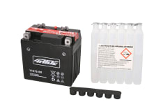 Akumulator AGM/Bezobsługowy/Rozruchowy 4 RIDE 12V 6Ah 130A P+ 113x70x105 Suchoładowany z elektrolitem GAS GAS EC, FSE, HP-WILD, PAMPERA, SM, SUPERMOTO; HONDA CB, CBR, CRF, SH, TRX 50-1000 1995-