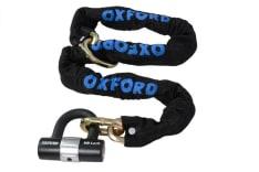Zabezpieczenie antykradzieżowe OXFORD MTR CHAIN & LOCK kolor czarny 1,4m x ogniwo łańcucha 10mm 10mm x 140cm