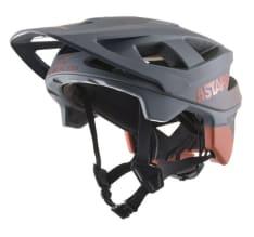 Kask rowerowy ALPINESTARS VECTOR PRO - DELTA HELMET - CE EN kolor czerwony/matowy/szary