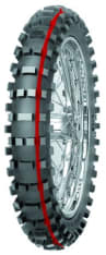 Opona cross/enduro MITAS 100/90-19 TT 57M C12 SOFT TERRAIN RED Tył