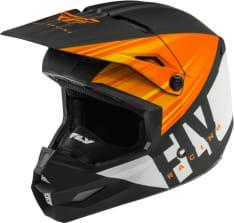 Kask cross/enduro FLY RACING KINETIC K220 ECE kolor biały/czarny/pomarańczowy