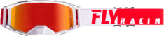 Gogle motocyklowe FLY RACING 2019 Zone Pro kolor biały/czerwony