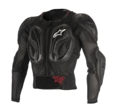 Koszulka z ochraniaczami ALPINESTARS MX BIONIC ACTION kolor czarny/czerwony