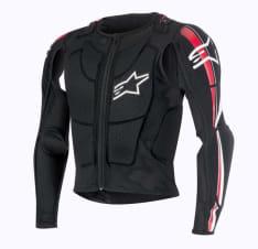 Koszulka z ochraniaczami ALPINESTARS BIONIC PLUS JACKET kolor biały/czarny/czerwony