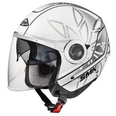 Kask otwarty SMK SWING ESSENCE GL162 kolor biały/srebrny