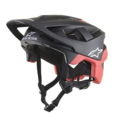 Kask rowerowy ALPINESTARS VECTOR PRO - ATOM HELMET - CE EN kolor czarny/czerwony/matowy