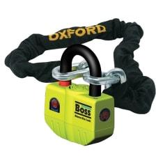 Łańcuch z zapięciem OXFORD Boss kolor czarny/żółty 1,2m x ogniwo łańcucha 12mm