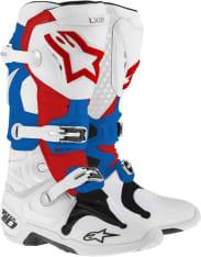 Buty cross/enduro TECH 10 NEW ALPINESTARS MX kolor biały/czerwony/niebieski