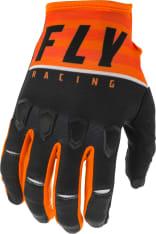 Rękawice off road FLY RACING KINETIC K120 kolor biały/czarny/pomarańczowy