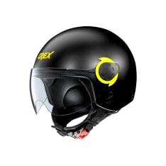 Kask otwarty GREX G3.1E COUPLÉ 10 kolor czarny/matowy/żółty