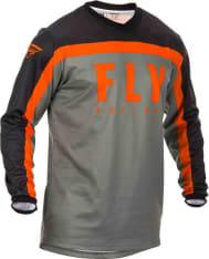 Koszulka off road FLY RACING F-16 kolor czarny/pomarańczowy/szary