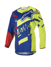 Koszulka off road ALPINESTARS MX TECHSTAR SCREAMER kolor czerwony/fluorescencyjny/niebieski/żółty
