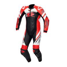 Kombinezon jednoczęściowy ESTORIL RACE SPYKE kolor biały/czarny/czerwony/fluo
