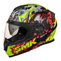 Kask integralny SMK TWISTER ATTACK MA243 kolor czarny/fluorescencyjny/matowy/żółty