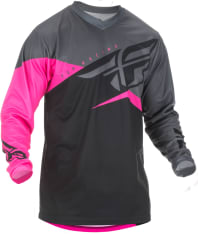 Koszulka off road FLY RACING F-16 kolor czarny/różowy/szary