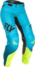 Spodnie cross/enduro FLY RACING Women's Lite kolor fluorescencyjny/niebieski/żółty