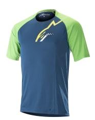 Koszulka rowerowa ALPINESTARS TRAILSTAR kolor niebieski/zielony