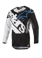 Koszulka off road ALPINESTARS MX TECHSTAR VENOM kolor biały/czarny/niebieski