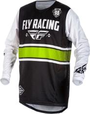 Koszulka rowerowa FLY KINETIC kolor biały/czarny