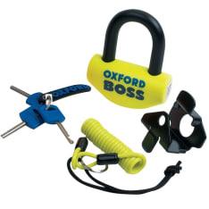 Blokada tarczy hamulcowej OXFORD Boss kolor żółty trzpień 16mm