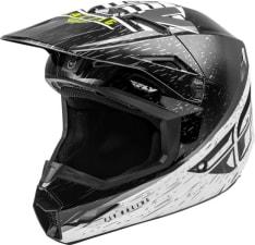 Kask cross/enduro FLY RACING KINETIC K120 ECE kolor biały/czarny/fluorescencyjny/żółty